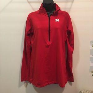 Nebraska 1/2 zip pull over sweatshirt